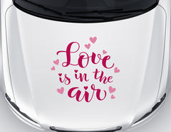 Autoaufkleber Love is in the air
