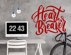 """Wandtattoo """"Heart Breaker Script"""" im Handlettering-Stil"""
