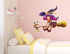 Wandtattoo Violet die kleine Hexe