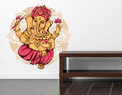 Wandtattoo Ganesha mit Mandala