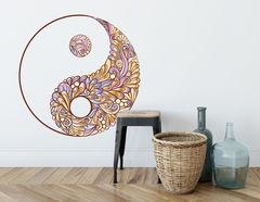 Wandtattoo Yin & Yang - Paisley