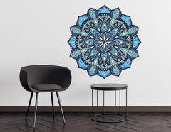 Wandtattoo Mandala - Blue Ethno Style