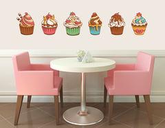 Wandtattoo Sweet Vintage Cupcakes