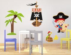Wandtattoo Toby der kleine Pirat