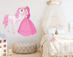 Wandtattoo Prinzessin Estelle & Pferd Gaston