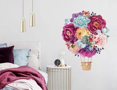 Wandtattoo Floral Air Baloon