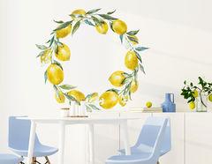 Wandtattoo Zitronen Kranz Citrea