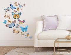 Wandtattoo Butterflies in Watercolor