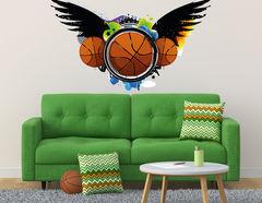 Wandtattoo Basketball beflügelt Graffiti