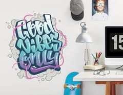 Wandtattoo Good Vibes Only - Graffiti