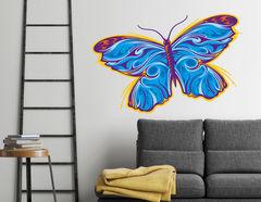 Wandtattoo Tribal-Butterfly in Blue