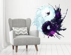 Wandtattoo Yin & Yang Watercolor