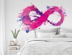 Wandtattoo Pink Watercolor Infinity