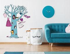 Wandtattoo Das blaue Baumhaus