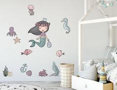 Wandtattoo Meerjungfrau Alegra