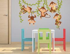 Wandtattoo Affenbande mit Lianen
