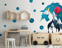 Wandtattoo Paper-Art Einhorn Lavinia