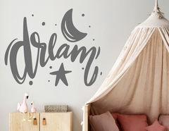 Wandtattoo Dream, Moon & Stars