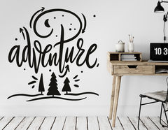 Wandtattoo Adventure Lettering
