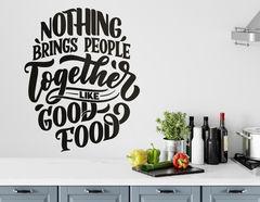 Wandtattoo Food brings People together
