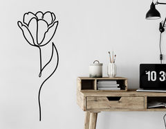 Wandtattoo One Line Art - Tulip