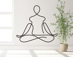 Wandtattoo One Line Art - Yoga