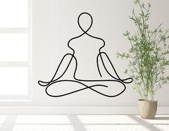 Wandtattoo One Line Art - Yoga