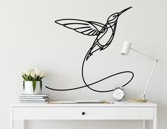 Wandtattoo One Line Art - Hummingbird