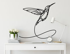 Wandtattoo One Line Art - Hummingbird