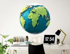 Wandtattoo Polygon Erde