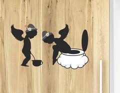 Wandtattoo WC Zeichen Pinkel Engel