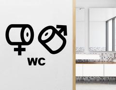Wandtattoo WC Zeichen Rollenspiel