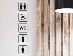 Wandtattoo WC Zeichen Lambert