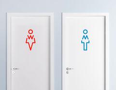 Wandtattoo WC Zeichen Maxime