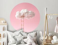 Wandtattoo Rosa Wolkenleiter