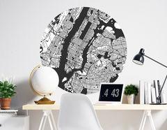 Wandtattoo New York City Map