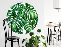 Wandtattoo Tropen-Blatt Monstera