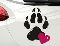 Autoaufkleber Pawprint of Love