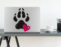 Wandtattoo Pawprint of Love