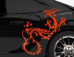 Autoaufkleber China Dragon Tribal-Set