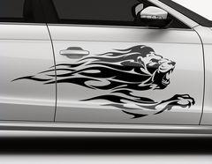 Autoaufkleber Flaming Lion-Set