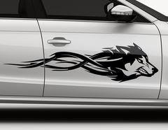 Autoaufkleber Angered Wolf-Set
