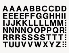 Buchstaben-Aufkleber modern