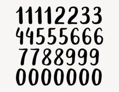 Zahlen-Aufkleber Brush