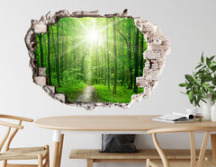 3D Wandtattoo Green Forest