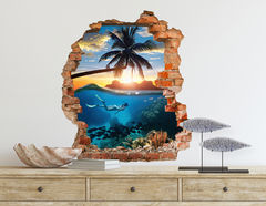 3D Wandtattoo Tropical Waters