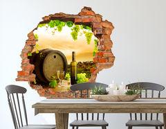3D Wandtattoo Weinfass