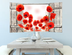3D Wandtattoo Poppy Field