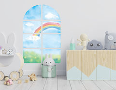 Wandtattoo Regenbogenfenster