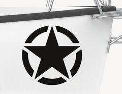 Bootsaufkleber Army Star